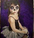 """Marley"", Lila Solorzano, acrylic on canvas, 2011, 22"" x 28"""