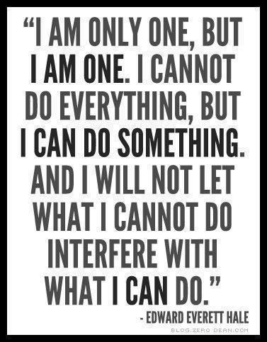 I am only one, but I AM ONE! Edward Everett Hale   Sacraparental.com   How to create a list of family values