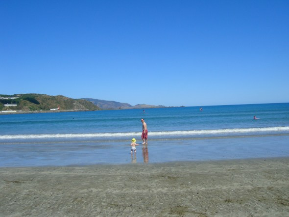 Lyall Bay, last week (sorry, Northern Hemispherers)