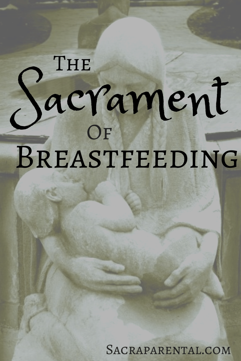 Public breastfeeding can be part of people's Bible education!   Sacraparental.com