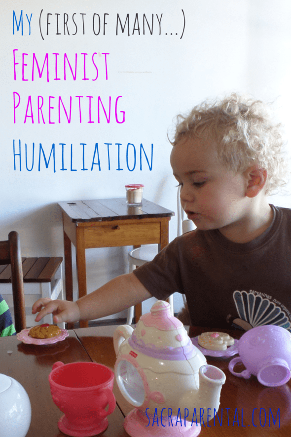 Oh, the shame! Come and laugh at my first feminist parenting humiliation and tell me yours... | Sacraparental.com