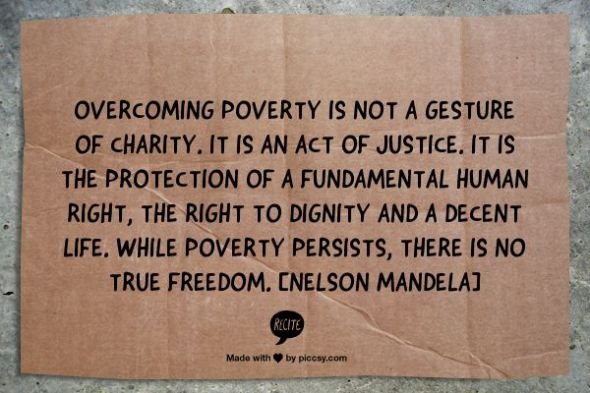 Ideas for tackling child poverty | Sacraparental.com | Nelson Mandela