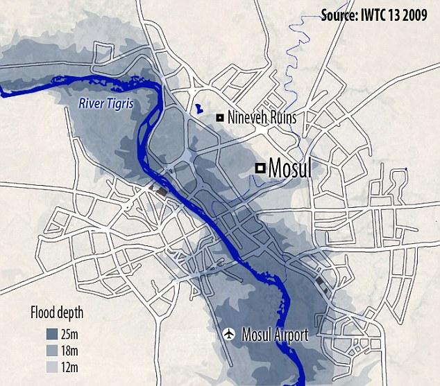 Mosul flood, Baghdad