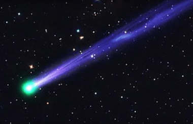 A comet will fly past Earth on New Year's Eve.