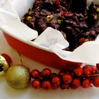 Pistachio Cranberry Dark Chocolate Bark