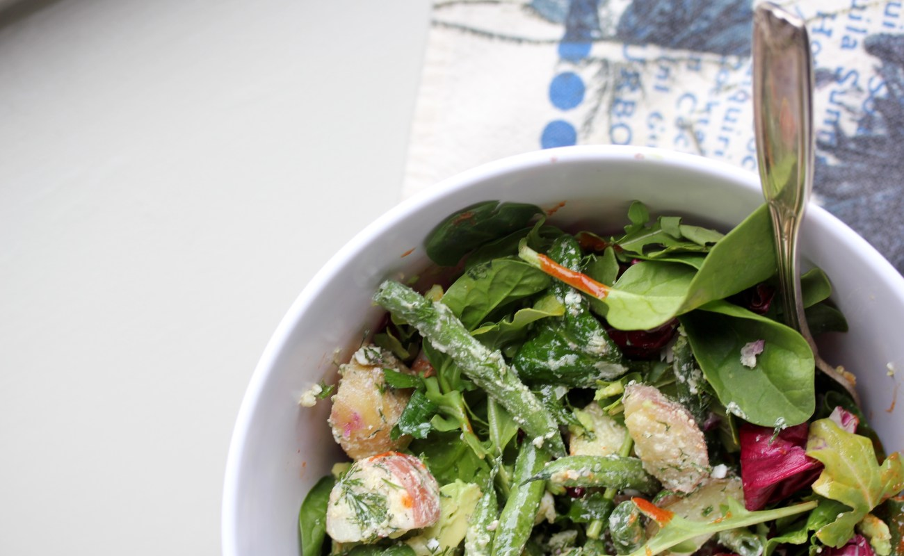 spring potato and green bean salad