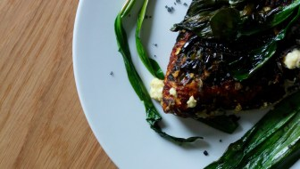ramp and goat's yogurt frittata