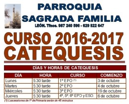 Catequesis 2016-17