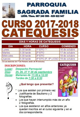 CATEQUESIS 17-18