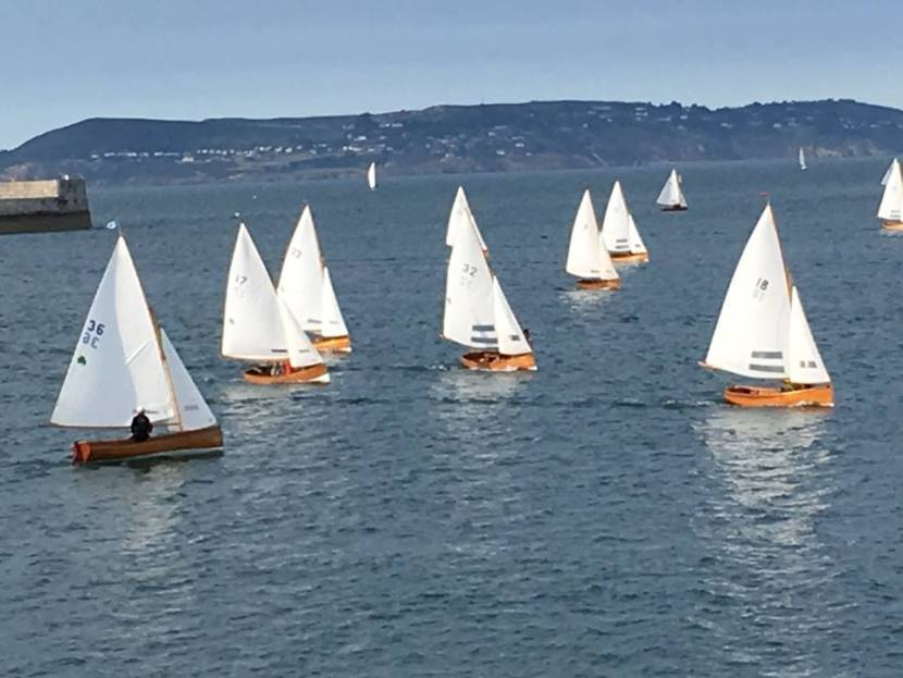 Fleet racing in Dun Laoghaire Harbour (photo from Water Wag Facebook page)