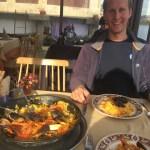 Delicious seafood paella in Combarro