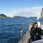 Leaving the Islas Cíes for Baiona