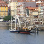"Next to the ""Tres Hombres"" in Porto"