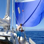 Light weather sailing to Corsica