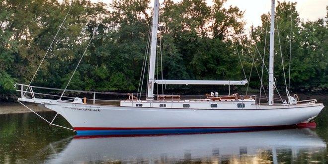 "Cherubini 44 ""Alliance"", the american classic sailboat is on her way. PHOTOS"