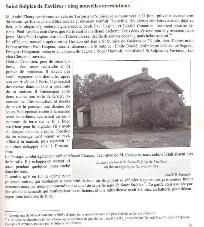 Extrait du Bulletin de la Société Historique de Dourdan en Hurepoix.