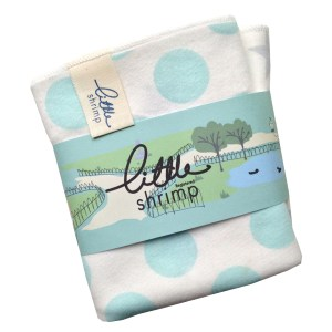 baby present dribble cloth greeen spot