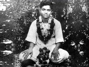 Photo of young Sathya Sai Baba