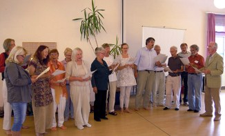 Devotional songs at conference in Germany