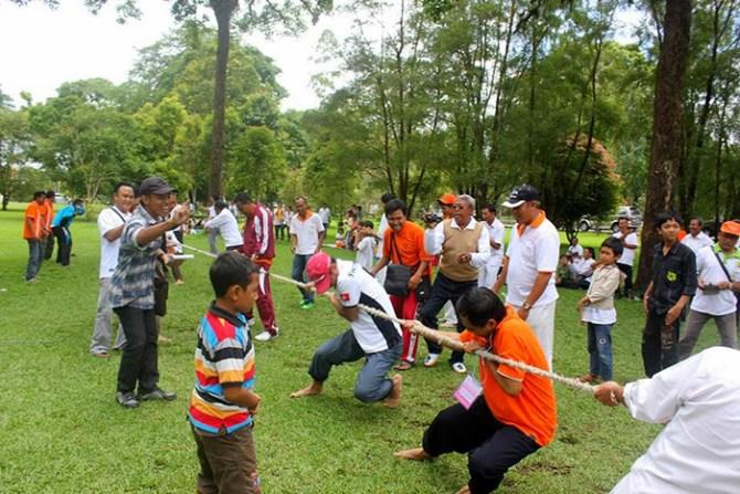 Tug-of-War game at Youth Camp