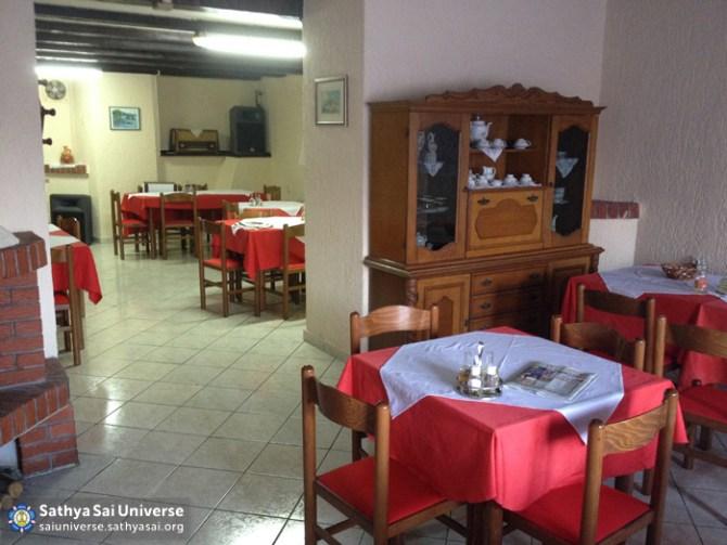 Inside the Restaurant where the homeless are served