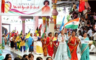 Sathya Sai World Youth Festival Flag procession India