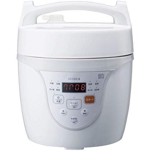 siroca マイコン電気圧力鍋 クックマイスター ホワイト SPC-101WH