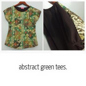 Baju Batik Menyusui : Abstract Green
