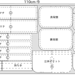 おしりふきがさっと取り出せるおむつポーチ(Bitatto付き)、パターン&レシピ公開!!