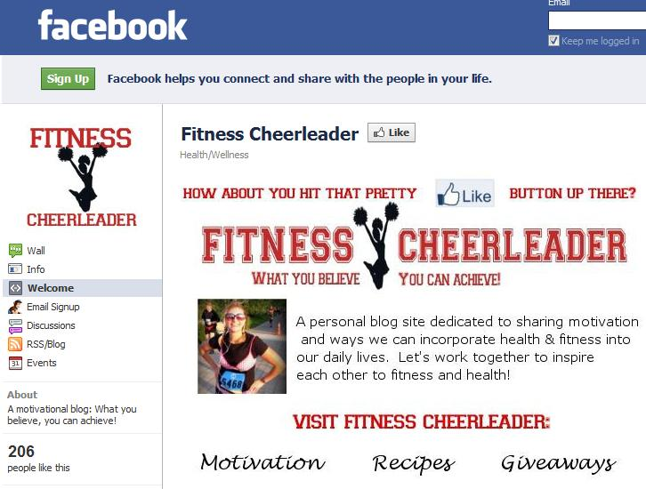 Fitness Cheerleader has a New Facebook Fan Page!