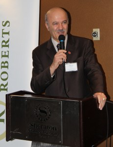 Richmond Hill MPP Reza Moridi delivered a speech to the 80 plus crowd and urged ILPO members to enter politics
