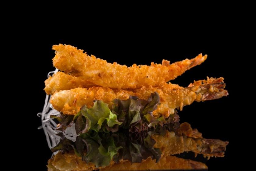 camarão empanado na Farinha Panko