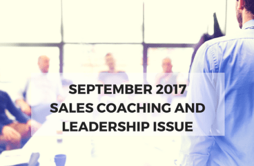 September 2017: Sales Coaching and Leadership Issue