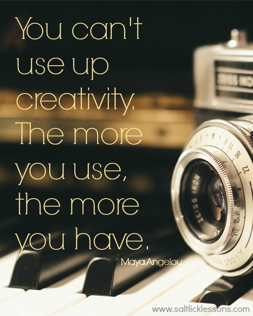 Creativity, maya angelou quote