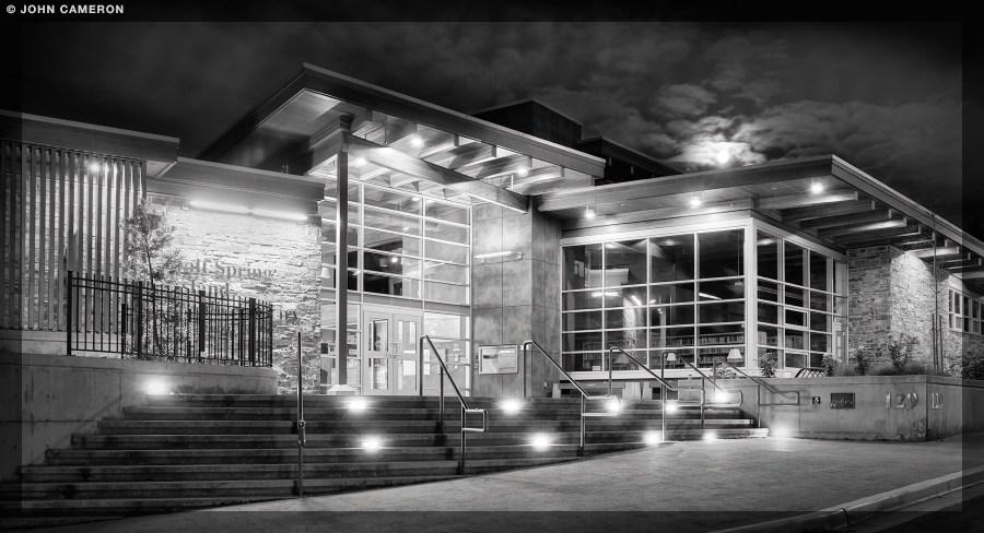 Salt Spring Library at Moonset