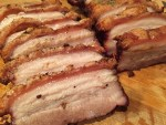 Grilled crispy pork belly