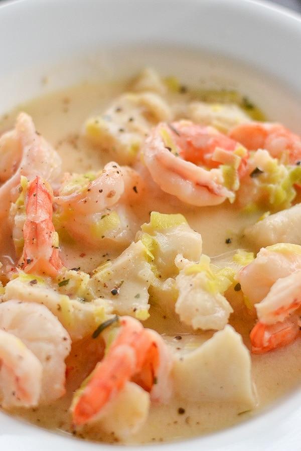 Shrimp and fish chowder salu salo recipes for Fish and shrimp soup