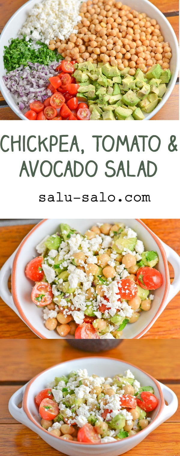 Chickpea, Tomato and Avocado Salad - Salu Salo Recipes