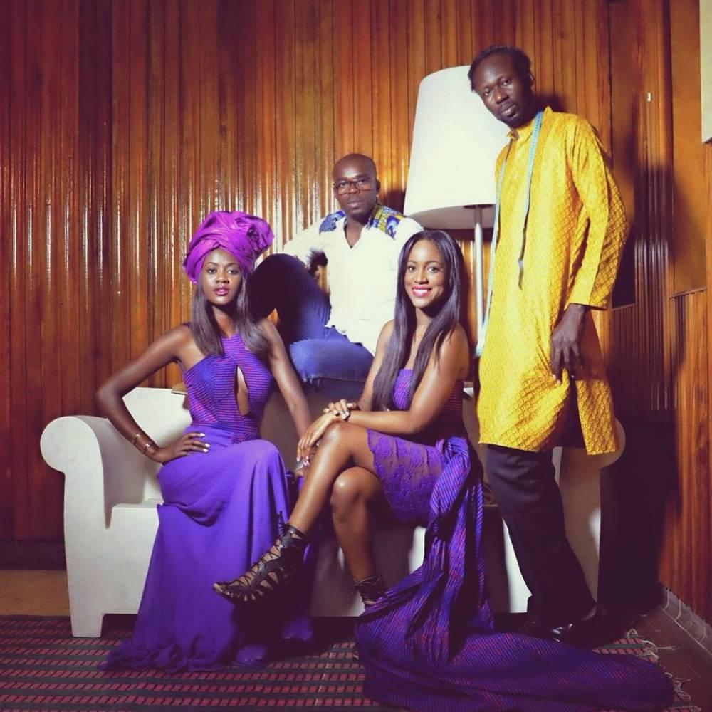L'équipe de Style Challenge Africa de gauche à droite Fatou Noba, Mariama Baldé Parfait Ikouba Sidy Dia. © DR