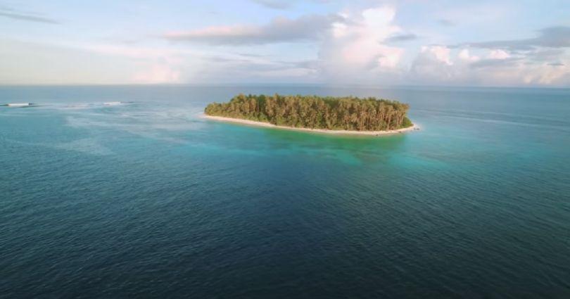 L'île de l'archipel de Micronésie. (©YouTube)
