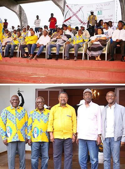 Membres de l'opposition lors du meeting de Franceville. © Gabonreview
