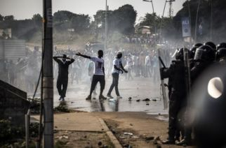 Emeute Gabon, 31 août 2016© AFP par MARCO LONGARI