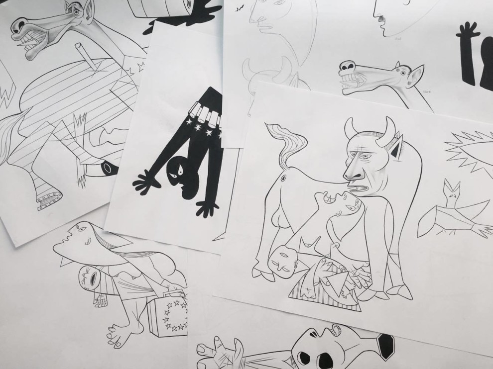 esquisse adaptation Guernica