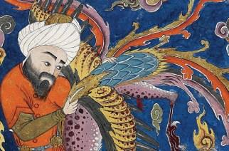 Artiste anonyme, Hippocrate porté au ciel par Sîmorgh, bibliothèque du musée Topkapi, Istambul - Topkapi Museum Library