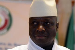 Le président gambien Yaya Jammeh, lors d'un sommet de la Cédéao, le 28 mars 2014