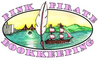 PINK PIRATE LOGO flat photoshop