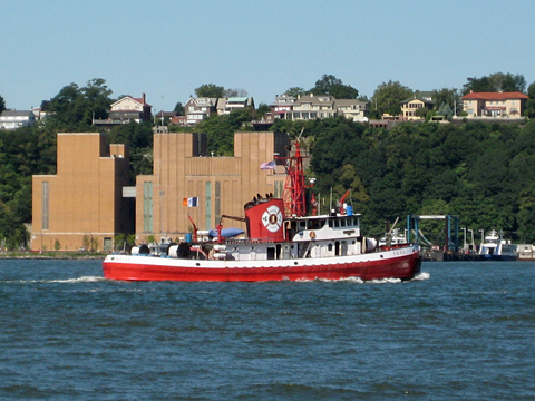 NYFD Fireboat on the Hudson River