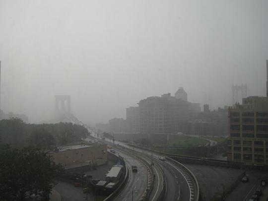 Huge rainstorm in Brooklyn