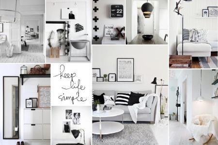 scandinavian interior design mood board