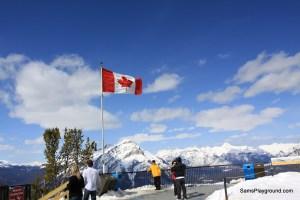 Renee's Arrival in Banff